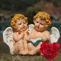 子供の天使エンジェル置物、白い小鳥を持つ天使、本を読む天使、テントウムシを持つ天使たち、ガーデンエンジェルオブジェオーナメントhhdangel001