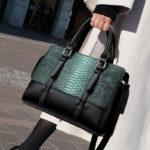 合成皮革バッグ、ヘビ柄バッグ、ショルダーバッグ、緑色グリーンのヘビ柄合成レザーハンドバッグ、レディースバッグlihosleather002