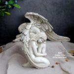 ガーデニング天使、ガーデン天使置物、天使雑貨グッズ、大きな翼を持つ天使、エンジェルオブジェ、オーナメントフィギアsh5056angel001