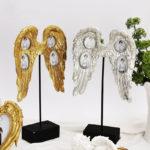 天使の翼フォトフレーム、天使の羽フォトスタンド、天使の写真立て、金色ゴールドフォトフレームの天使雑貨、インテリア雑貨Sh46pframe002