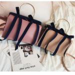 リボンバッグ、リボンバック、ショルダーバッグ、大きなリボンが二つ付いたハンドバッグ、レディースパーティーバッグhfribbon001