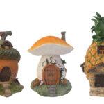妖精の家フェアリーハウス、ドングリの家、キノコの家、パイナップルの家、ガーデニング雑貨グッズ、ガーデニンググッズ小物ecqdfairyhouse008