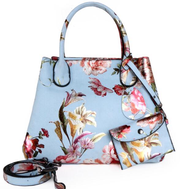 薔薇バッグ、花柄バッグ、トートバック、ショルダーバッグ、赤い薔薇の花、ユリの花、レッドローズ豪華な花柄のハンドバッグ、レディースバッグ