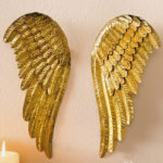 "<span class=""title"">天使の羽の壁掛け、天使の翼壁掛け、ゴールド金色のエンジェルウィング、天使オブジェ、天使雑貨、インテリア雑貨aiunangel001</span>"