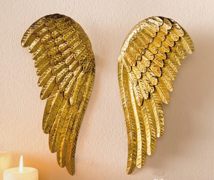 天使の羽の壁掛け、天使の翼壁掛け、ゴールド金色のエンジェルウィング
