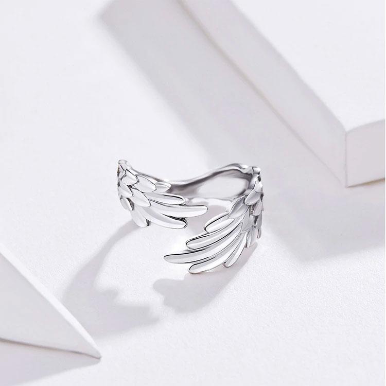 天使の羽指輪リング、エンジェルリングアクセサリー、天使の翼リングシルバー925、リングジュエリー