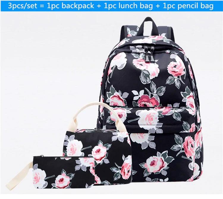 薔薇リュック、花柄リュックサック、ピンクローズ花柄のピンク薔薇バッグ、花柄バッグ、ハンドバック、化粧ポーチ、レディースバッグ