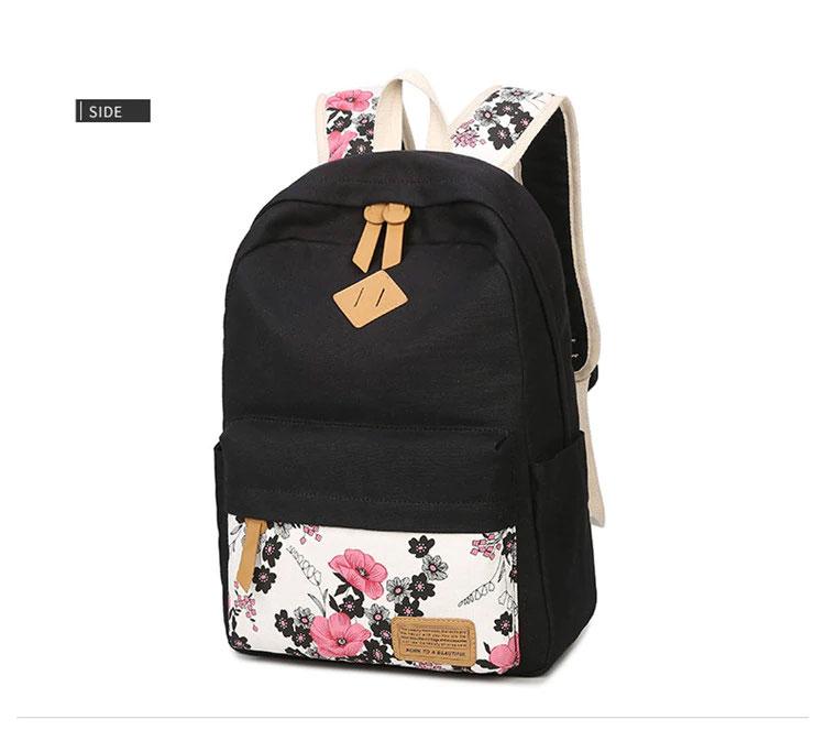 花柄リュック、花柄リュックサック、ピンク花柄のフラワーバッグ、花柄バッグ、ハンドバック、化粧ポーチ、レディースバッグ
