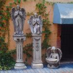 """<span class=""""title"""">ガーデニング天使、天使置物、天使雑貨グッズ、手を合わせてお祈りしている天使と器を持って座っている女神天使ガーデン天使人形、エンジェルオブジェ、オーナメントフィギアwuclangel001</span>"""