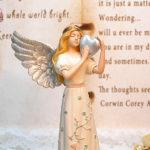 "<span class=""title"">天使置物のエンジェル人形、天使女神、両手で銀のハートを抱えて銀色の大きな翼を広げ目つむっている天使人形、エンジェルオブジェ、オーナメントフィギアjsangel008</span>"
