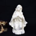 聖母マリア像置物、両手をハート胸に当てて愛を伝えるマリア女神像、マリアオブジェオーナメント、マリアフィギア