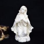 """<span class=""""title"""">聖母マリア像置物、両手をハート胸に当てて愛を伝えるマリア女神像、マリアオブジェオーナメント、マリアフィギアjsmaria005</span>"""
