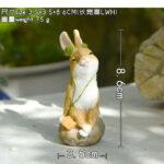 """<span class=""""title"""">ウサギ置物、ウサギ人形、石の上にちょこんと座ってヘッドフォンで音楽を聴いているうさぎ、兎のフィギア、ウサギオブジェecqdrabbit028</span>"""